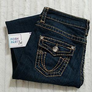 🆕️👖L.A. IDOL•cropped jeans•rhinestone• EUC🔥